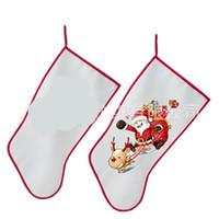 Marry Transferência de Natal Meias Sublimação Blanks Canvas Stocking Calor Festival personalizado Sock Decoração de Santa Ornamentos New C2 8 9ypa
