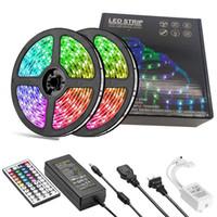 LED-Streifen-Beleuchtung RGB SMD5050 DC12V-Farbwechsel-LED-Band-Licht-Kit Flexible Ändern von mehrfarbigen Beleuchtungsstreifen mit 44 Tasten für TV-Raum
