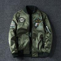Winter Bomberjacke Männer Military Pilot Jacke Abzeichen Mode Doppel Side Wear Motorradjacke Aaubst-Jugend Große Größe 6XL 7XL CX200826