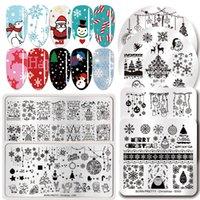 Nail Art Templates Weihnachten Stempelplatten Edelstahl Vorlage Stempel Platte Bild DIY Design Tool