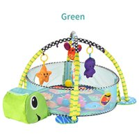 3in1 Baby Play Turtle Ocean Foldable Pool Toys Pool Game Pattern Pit Fencing Cartoon Mat Crawling Tent Ball Blanket Gift Dswog