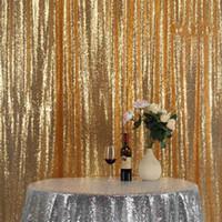 Rosa / Champagne lentejuelas de tela de oro contexto de la boda Photo Booth telones de fondo para estudio de fotografía / Party Decor / Navidad