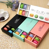 Renkli Macaron Kutusu 12 Kavite Tutar 20 * 11 * 5 cm Gıda Ambalaj Hediyeler Kağıt Parti Kutuları Fırın Kek için Snack Şeker Bisküvi Muffin Mnpjm