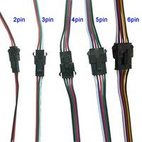 3 핀 4 핀 5 핀 6 핀 JST LED 커넥터 남성과 여성의 커넥터 3528 5050 RGB RGBW RGBWW LED 스트립 빛