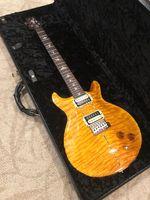 مخصص Santana Ll Santana الأصفر لحاف القيقب الأعلى الغيتار ريد سميث 24 الحنق الصين صنع القيثارات الكهربائية