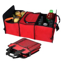 Auto Rear Rack Storage Box organizer Drink Food Insulation I...
