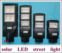 태양 LED 가로등 도로 램프 40W / 80W / 120W / 160W PIR 센서 원격 컨트롤러 나사 아암 후프 배터리 전체 세트 2019 새로운