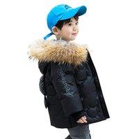 Kinder Daunenjacke 2020 Winterjungen Parka verdicken Echtpelzkragen Kinder arbeiten Mantel für Mädchen Schneeanzug Kinderkleidung