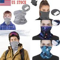 Stati Uniti Stock figli adulti sciarpa magica Viso di protezione maschera con filtro del tubo Bandana Sciarpa Wristband In Stock Boy Gilrs