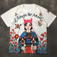 Mode Hommes T-shirt 2020 célèbre rue de la qualité Animation filles manches courtes Polos de Couples Hommes Femmes Chemises style Hip Hop
