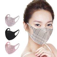 4 estilos Máscaras tela escocesa Cara unisex transpirable Boca máscara protectora lavable reutilizables Mascarillas Diseñador GH647