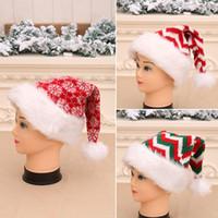 3Styles Christmas Striped Xmas Cappello Decorazioni Red Babbo Natale Babbuccia Borsa Posate Borsa Party Decor natale Peluche Ornamenti Bambini regalo FFA2848