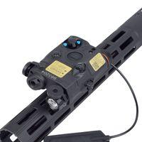 An / peq-15 Red Dot Laser White LED-Strobe-Taschenlampe für Standard 20mm Rail Night Vision Jagdgewehrluftpistole