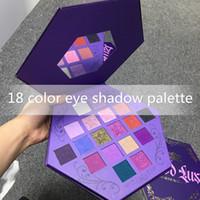 J Star Eye Maquillage Pauvres Palette Palette Sang Ombre à paupières du sang 18 Couleurs Purple Artistique Eau Shadows Palette