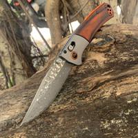 aço Damasco colorido + de alta qualidade cabo de madeira facas EDC Camping faca SAMSEND dobráveis 15080 alumínio faca aviação