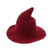 Modern Witch Hat Made From High Quality Sheep Wool Halloween...