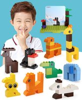 100pcs Larger particles building blocks DIY children popular science educational toys I love the zoo puzzle assembling creative gift 05