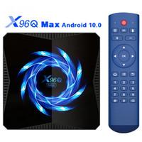 X96Q ماكس 4G 32G صندوق التلفزيون الذكي Android 10 TVBox Support 2.4G5G المزدوج WIFI 6K Google Voice Assistant 4K BT5.0