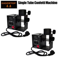 Freeshipping 2pcs/lot One Head Confetti Machine, Wedding Blaster Electrical DMX Control Stage Effects Confetti Cannon Color Paper Machine