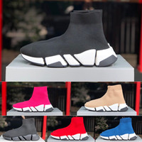 DHL Livraison gratuite 20SS Mens Designer Speed Sneaker High Top Sock Chaussures Chunky Sneakers Slip-on Platform Chaussures Casual Luxury Designers Chaussures
