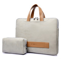PU sac en cuir pour ordinateur portable Sac étanche pour ordinateur portable 13,3 pouces 14 15,6 portable pro cas hommes