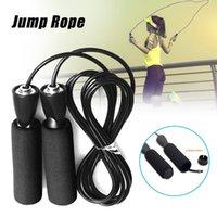 Ropes Ropes Скорость пропуск канат Черный регулируемый ручка фитнес упражнения тренировочный тренировочный тренинг