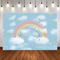 عيد ميلاد التصوير دش الطفل rainbow خلفية بيضاء خلفية نجمة mehofond سحابة حزب ديكور photo studio obxcx