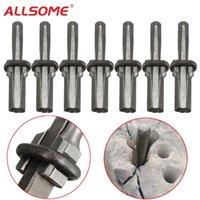 """ALSLOME 7pcs New Stone Splitter 9/16"""" Metal plug Plataformas and Feathers Calços Concrete Rocha Divisores Mão Ferramenta HT2081"""