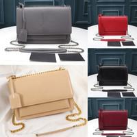 고품질 명품 디자이너 플랩 가방 브랜드 핸드백 SUNSET 체인 지갑 여성 크로스 바디 백 어깨 가방 패션 가방 체인 지갑