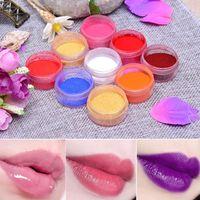 DIY 립글로스를위한 DIY 립 글로스 안료 분말 안료 립 글레이즈 키트 오래 지속 입술 분말 Comestics 만들기