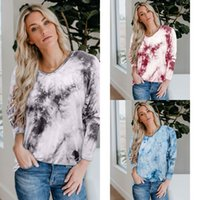 q2GmI 2020 Autumn new women' s round neck sweater tie- dy...