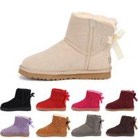 UGG boots 2020 d'hiver Filles Bottes enfants Bottes enfants Sonw hiver chaud chaussures de fourrure en peluche cuir PU imperméable en caoutchouc Mode Bébé Princesse Chaussures