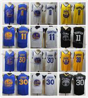 Stephen 30 hommes cousues chandails Curry Klay Thompson 11 Draymond 23 Vert Basketball 2020 Nouveau Noir Jaune Bleu Blanc Chemises