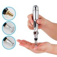 2020 Nouvelle électronique Acupuncture Pen électrique Méridiens thérapie laser Guérir massage Pen Meridian Energy Pen secours Outils douleur