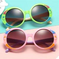 Мода дети мультфильм солнцезащитные очки улыбающиеся рыбы дизайн солнцезащитные очки анти-уклон зрелищные очки детские круглые придает очки вырезать лук Adumbral A ++