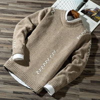 Casual Male Autumn Casual Fashion Block Knit Jumper Sweater Jumper Sweater Sale Male Cotton Vest