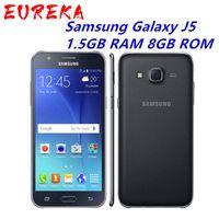 Оригинальный разблокированный Samsung Galaxy J5 J500F Quad Core 1.5GB RAM 8GB ROM 13.0MP Dual SIM-карта Bluetooth мобильный телефон