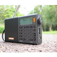 Freeshipping D-808 grau tragbarer Radio-hohe Empfindlichkeit und tiefe Sound-FM-Stereo-Multi-Vollband mit LCD-Display-Alar-Temperatur