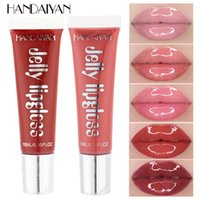 12 cores HANDAIYAN Jelly Lip Gloss Waterproof Maquiagem líquido Lip Gloss 10ml Nutritivo Beauty