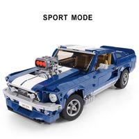 Yeni 21047 Mavi Rüya Araba Modeli Uyumlu Yaratıcı Uzman 10265 Yapı Taşları Tuğla Eğitici Oyuncak Doğum Günü Hediyesi