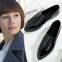 LIHUAMAO loafers for women slip on shoes pointed toe party work outdoor fashion ladies dress uniform shoes