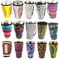 Baseball Tumbler Träger-Halter-Beutel Neopren Isolierhülse Taschen-Kasten für 30 Unzen Tumbler Kaffeetasse Wasserflasche mit Tragegriff