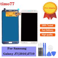 brilho TFT de alta qualidade ajustável para Samsung Galaxy J7 J710 J710F SM-J710F 2016 LCD digitalizador substituição da tela 100% testado