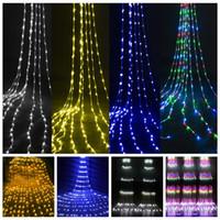 شلال ضوء سلسلة ديكور 240 أضواء الستار الدعائم الزفاف LED خلفية الديكور حديقة حزب هالوين عيد الميلاد الاتحاد الأوروبي التوصيل 3M * 2M FFA4385