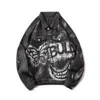 XXL Серый Джинсовая куртка мужчины Streetwear Мужские куртки Джинсы Куртки мужские