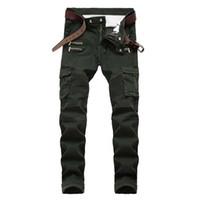 New Men Biker jeans denim Pants Pocket Draped Panelled Zipper Fashion Top quality Free Shipping