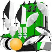 Фоновый материал Zuochen PO Студия Студия Софтбокс Зонтик Освещение Кит Подставка 4 Фон