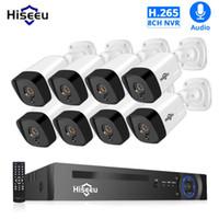 H.265 Audio 8CH 1080P POE NVR SISTEMA DE SEGURIDAD CCTV 4PCS 2MP Grabar POE Cámara IP IR Kit de vigilancia de video al aire libre 1TB HDD