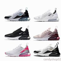 Nike Air Max 270 Flyknit Utility Top Triple Noir Blanc Chaussures de course arc-en-KPU Hommes Femmes Formation Sports de plein air CNY Lumineux Violet Or Sneakers luc2