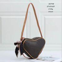Berühmte Mode Liebe Damen Crossbody herzförmige Tasche Brieftasche Handtasche Schultermünze Geldbörse
